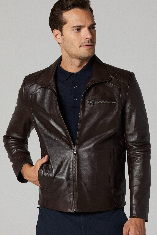 Cafe Racer Leather Jacket For Sale