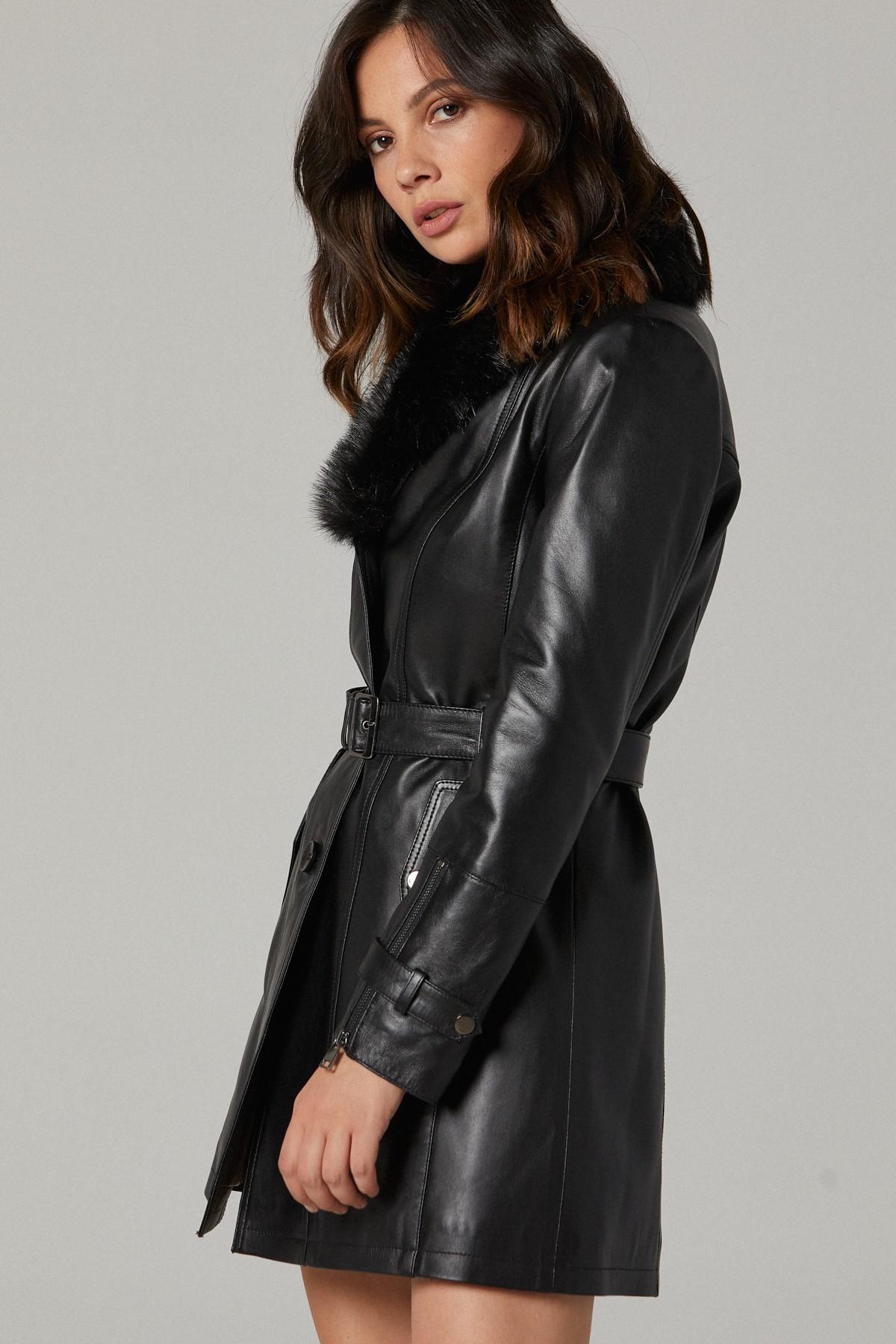 Long Womens Leather Coats