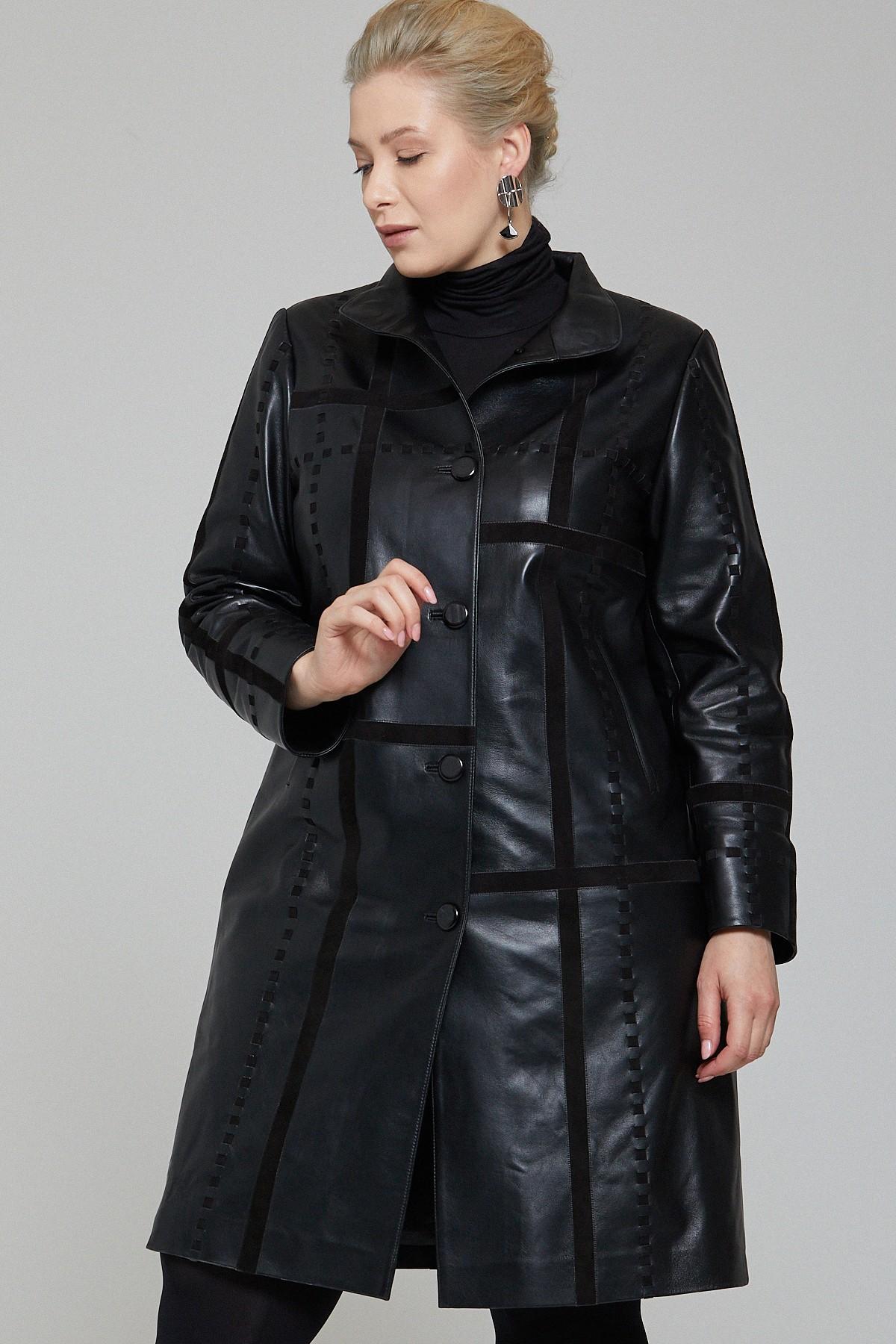 Kendall Jenner Long Leather Jacket