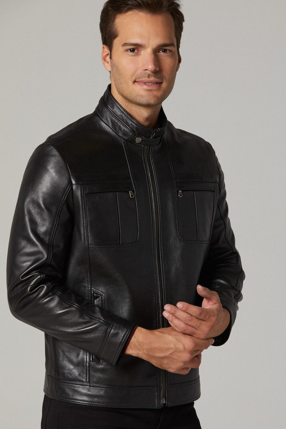 Leather Biker Jacket Mens Near Me