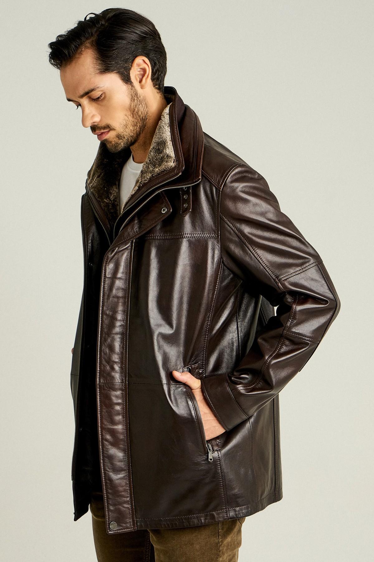 Artur Fit Leather Jacket Mens