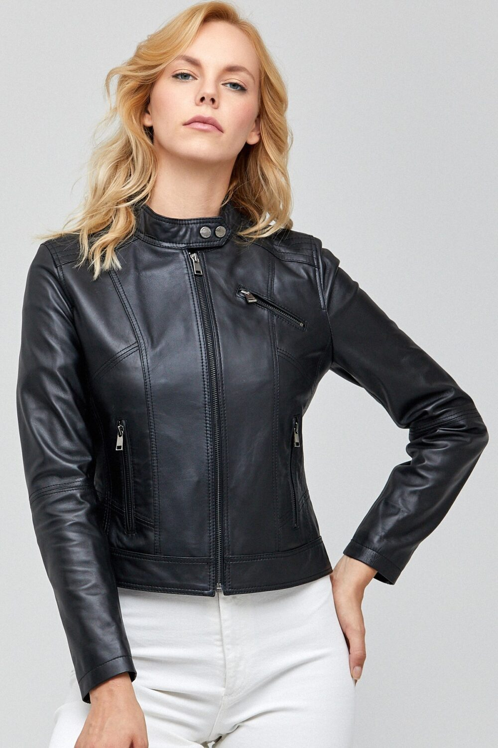 Burberry Leather Motorcycle Jacket